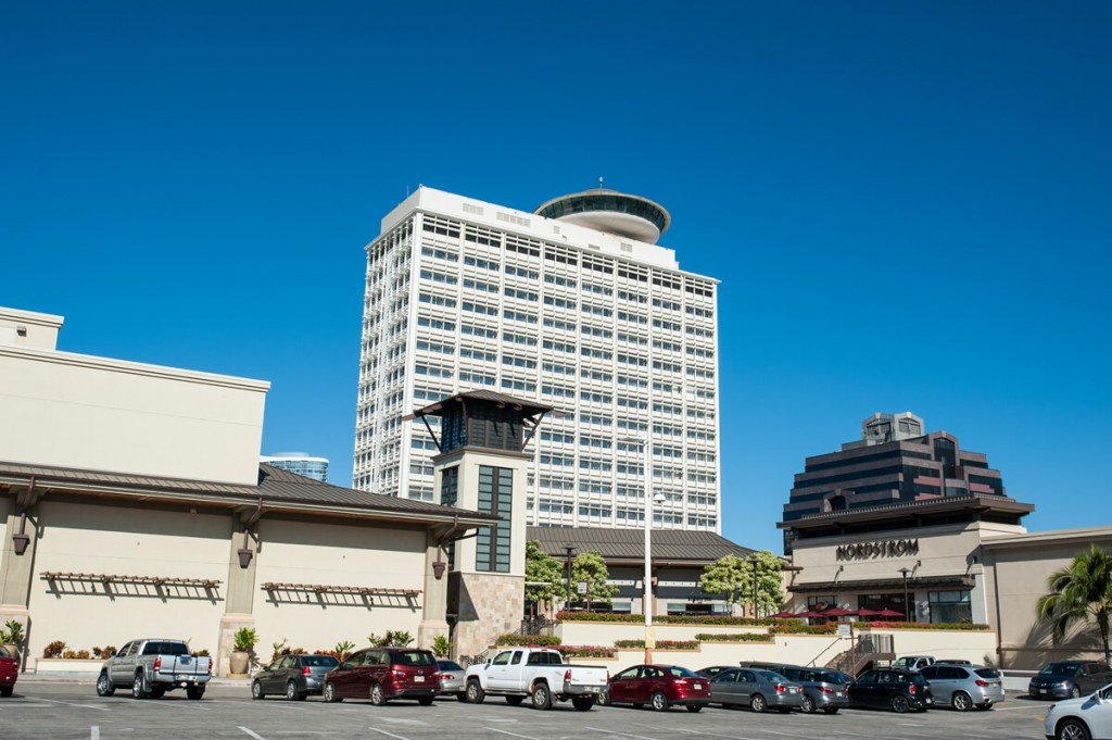 Ala Moana office building - View from Macy's